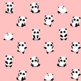 Άνευ ραφής διανυσματικό σχέδιο: το panda αφορά το σχέδιο ανοικτό ροζ/αυξήθηκε υπόβαθρο ελεύθερη απεικόνιση δικαιώματος