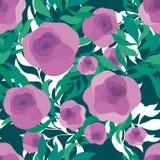 Άνευ ραφής διανυσματικό σχέδιο των κομψών λουλουδιών Στοκ φωτογραφίες με δικαίωμα ελεύθερης χρήσης