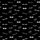 Άνευ ραφής διανυσματικό σχέδιο υποβάθρου αποκριών με τα απόκοσμα να κρυφτεί μάτια απεικόνιση αποθεμάτων