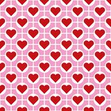 Άνευ ραφής διανυσματικό υπόβαθρο σχεδίων καρδιών ημέρας βαλεντίνων ` s Στοκ εικόνα με δικαίωμα ελεύθερης χρήσης