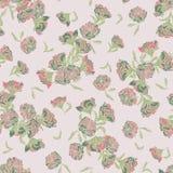 Άνευ ραφής διανυσματικό υπόβαθρο σχεδίων chinoiserie με τα λουλούδια ροδιών ελεύθερη απεικόνιση δικαιώματος