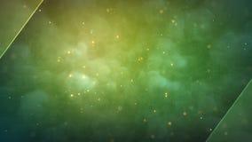 Άνευ ραφής διαστημικό υπόβαθρο κινήσεων μορίων φιλμ μικρού μήκους