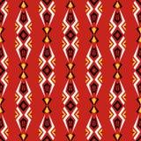 Άνευ ραφής εγγενής διανυσματική εθνική φυλετική σύσταση σχεδίων στην κόκκινη πλάτη απεικόνιση αποθεμάτων