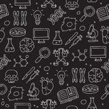 Άνευ ραφής εικονίδιο σχεδίων στη βιολογία Στοκ φωτογραφία με δικαίωμα ελεύθερης χρήσης