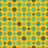 Άνευ ραφής εκλεκτής ποιότητας σχέδιο με το κίτρινο υπόβαθρο Στοκ Εικόνες