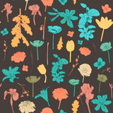 Άνευ ραφής εκλεκτής ποιότητας ζωηρόχρωμο floral σχέδιο Στοκ Εικόνα