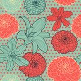 Άνευ ραφής εκλεκτής ποιότητας ιαπωνικό σχέδιο με τα lilys Στοκ φωτογραφία με δικαίωμα ελεύθερης χρήσης