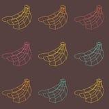 Άνευ ραφής εκλεκτής ποιότητας σχέδιο μπανανών πολυγώνων ζωηρόχρωμο Στοκ φωτογραφίες με δικαίωμα ελεύθερης χρήσης
