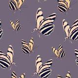 Άνευ ραφής εκλεκτής ποιότητας σχέδιο ύφους με τις πεταλούδες Στοκ Εικόνες