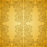 Άνευ ραφής εκλεκτής ποιότητας χρυσό σχέδιο διανυσματική απεικόνιση