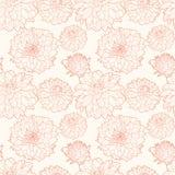 Άνευ ραφής εκλεκτής ποιότητας floral σχέδιο με τον αστέρα Στοκ φωτογραφία με δικαίωμα ελεύθερης χρήσης
