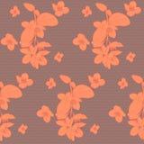 Άνευ ραφής εκλεκτής ποιότητας floral σχέδιο με το πλαστό πορτοκάλι διανυσματική απεικόνιση