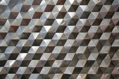 Άνευ ραφής εξαγωνικές υπόβαθρο σχεδίων μετάλλων, φως και περίληψη σύστασης μετάλλων σκιάς Στοκ Φωτογραφία