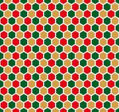 Άνευ ραφής εξαγωνικό υπόβαθρο σύστασης κυψελωτών σχεδίων απεικόνιση αποθεμάτων