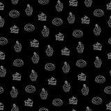 Άνευ ραφής επιδόρπια σχεδίων πινάκων κιμωλίας Στοκ Φωτογραφία