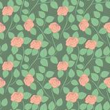 Άνευ ραφής λεπτό αφηρημένο σχέδιο με τα τριαντάφυλλα κρύβοντας διάνυσμα φιδιών εικόνων λαβυρίνθου κυνηγιού Στοκ εικόνες με δικαίωμα ελεύθερης χρήσης