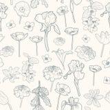 Άνευ ραφής ευγενές εκλεκτής ποιότητας floral σχέδιο απεικόνιση αποθεμάτων