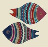 Άνευ ραφής ζωηρόχρωμα ψάρια Στοκ φωτογραφία με δικαίωμα ελεύθερης χρήσης