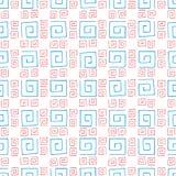 Άνευ ραφής ζωηρόχρωμα curlicues σχεδίων Στοκ Εικόνες