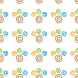 Άνευ ραφής ζωηρόχρωμα curlicues σχεδίων Στοκ Φωτογραφία