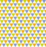 Άνευ ραφής ζωηρόχρωμο γεωμετρικό υπόβαθρο σχεδίων τριγώνων Στοκ Εικόνες
