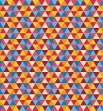 Άνευ ραφής ζωηρόχρωμο γεωμετρικό υπόβαθρο σχεδίων τριγώνων Στοκ φωτογραφία με δικαίωμα ελεύθερης χρήσης