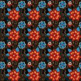 Άνευ ραφής ζωηρόχρωμο θερινό floral σχέδιο ελεύθερη απεικόνιση δικαιώματος