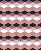 Άνευ ραφής ζωηρόχρωμο διακοσμητικό υπόβαθρο με τις γεωμετρικές μορφές Στοκ εικόνα με δικαίωμα ελεύθερης χρήσης