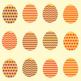 Άνευ ραφής ζωηρόχρωμο σχέδιο άνοιξη αυγών Πάσχας διανυσματική απεικόνιση