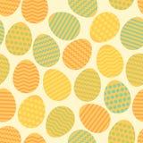 Άνευ ραφής ζωηρόχρωμο σχέδιο άνοιξη αυγών Πάσχας ελεύθερη απεικόνιση δικαιώματος