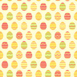 Άνευ ραφής ζωηρόχρωμο σχέδιο άνοιξη αυγών Πάσχας Στοκ Εικόνα
