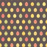Άνευ ραφής ζωηρόχρωμο σχέδιο άνοιξη αυγών Πάσχας Στοκ Φωτογραφία