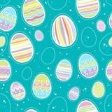 Άνευ ραφής ζωηρόχρωμο σχέδιο αυγών Πάσχας Στοκ Εικόνα