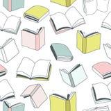 Άνευ ραφής ζωηρόχρωμο σχέδιο βιβλίων Διανυσματικό illstration Στοκ φωτογραφίες με δικαίωμα ελεύθερης χρήσης
