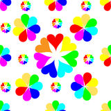 Άνευ ραφής ζωηρόχρωμο σχέδιο καρδιών Ανασκόπηση ημέρας βαλεντίνων ` s Στοκ φωτογραφίες με δικαίωμα ελεύθερης χρήσης