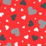 Άνευ ραφής ζωηρόχρωμο σχέδιο καρδιών Υπόβαθρο ημέρας Valentiness Στοκ Φωτογραφίες