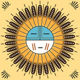 Άνευ ραφής ζωηρόχρωμο σχέδιο Ναβάχο Στοκ εικόνα με δικαίωμα ελεύθερης χρήσης