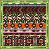 Άνευ ραφής ζωηρόχρωμο των Αζτέκων γεωμετρικό σχέδιο Στοκ Φωτογραφία