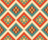 Άνευ ραφής ζωηρόχρωμο των Αζτέκων σχέδιο Στοκ Εικόνες
