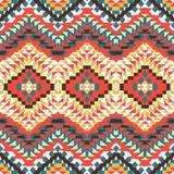 Άνευ ραφής ζωηρόχρωμο των Αζτέκων σχέδιο Στοκ εικόνα με δικαίωμα ελεύθερης χρήσης