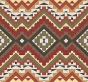 Άνευ ραφής ζωηρόχρωμο των Αζτέκων σχέδιο Στοκ Φωτογραφία