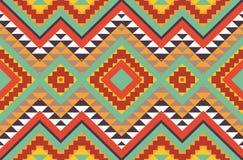 Άνευ ραφής ζωηρόχρωμο των Αζτέκων σχέδιο Στοκ Εικόνα
