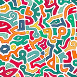 Άνευ ραφής ζωηρόχρωμο υπόβαθρο τέχνης στο ύφος δερματοστιξιών ελεύθερη απεικόνιση δικαιώματος