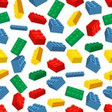 Άνευ ραφής ζωηρόχρωμο υπόβαθρο φιαγμένο από κομμάτια Lego Στοκ φωτογραφία με δικαίωμα ελεύθερης χρήσης