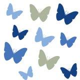 Άνευ ραφής ζωηρόχρωμο χρωματισμένο επίπεδο σχέδιο πεταλούδων Θερινό υπόβαθρο o διανυσματική απεικόνιση