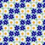 Άνευ ραφής ζωηρόχρωμο floral διακοσμητικό σχέδιο σχεδίου Στοκ Φωτογραφία
