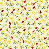 Άνευ ραφής ζωηρόχρωμο floral πρότυπο Στοκ φωτογραφία με δικαίωμα ελεύθερης χρήσης