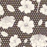 Άνευ ραφής ζωηρόχρωμο floral σχέδιο φθινοπώρου Στοκ Εικόνες