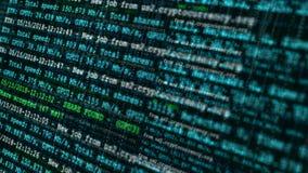 Άνευ ραφής ζωτικότητα βρόχων της διαδικασίας μεταλλείας cryptocurrency Επίδειξη οθόνης του εικονικού υποβάθρου έννοιας αλυσίδων φ απόθεμα βίντεο