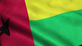 Άνευ ραφής ζωτικότητα κυματισμού περιτύλιξης σημαιών της Γουινέα-Μπι απεικόνιση αποθεμάτων